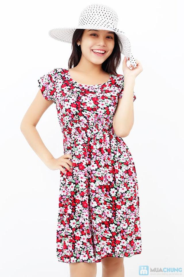 Đầm hoa vải lanh có cổ - Chỉ 85.000đ/chiếc - 3