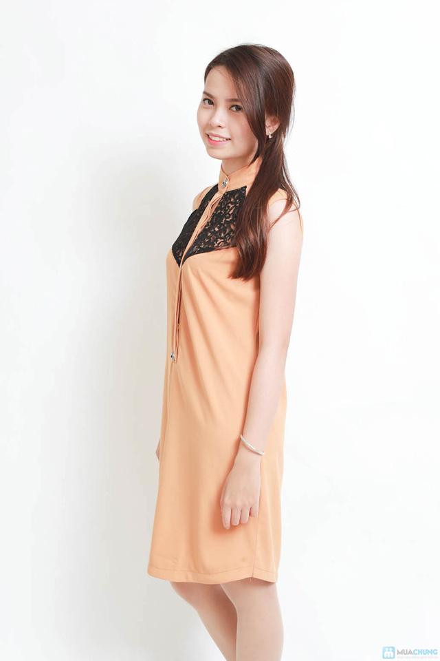 Cá tính với váy suông phối ren cao cấp - 4