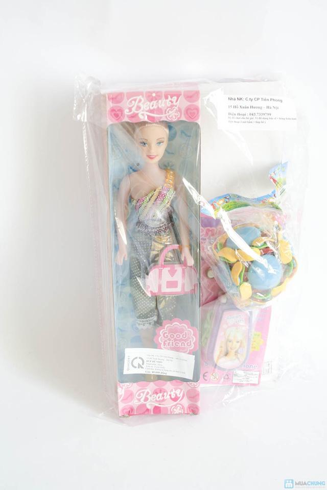 Bộ đồ chơi cho bé gái (vỉ đồ chơi đồ dùng bác sĩ + bóng biến hình + điện thoại 3 nút bấm + búp bê nhỏ) - 11
