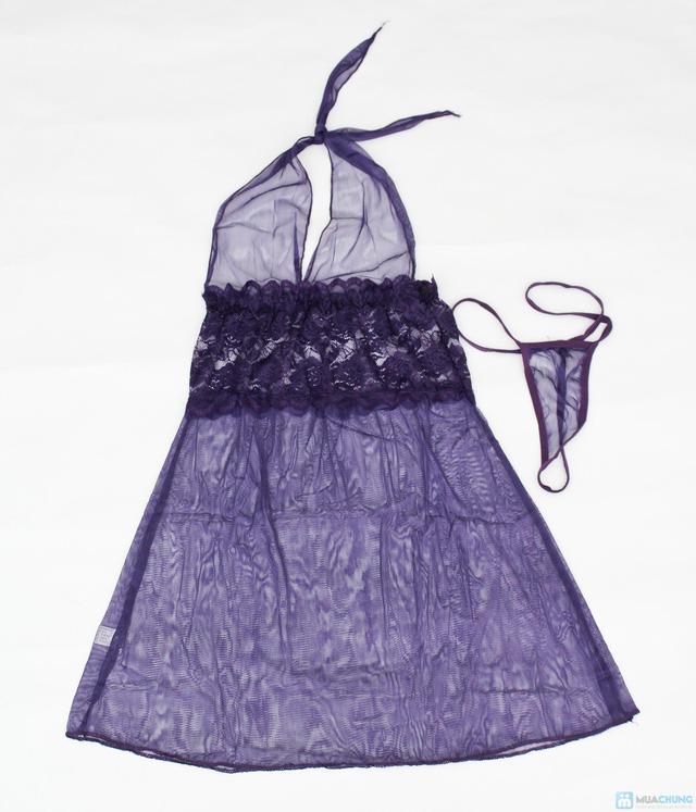 Váy ngủ kèm quần chip - 4