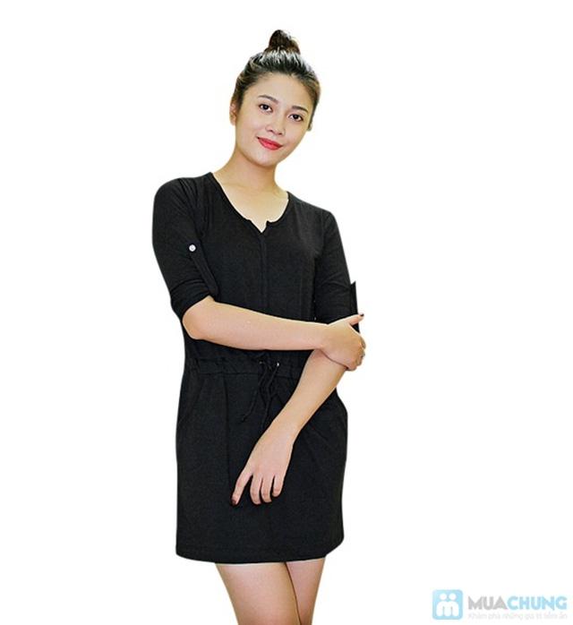 Đầm thun thắt eo cực nữ tính - Chỉ 130.000đ/ 01 chiếc - 4