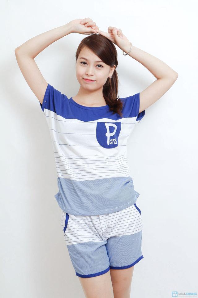 Combo 02 bộ mặc nhà kiểu dáng thể thao cho bạn gái - 7