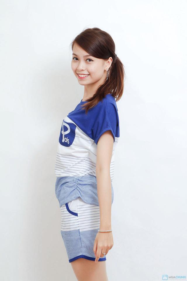 Combo 02 bộ mặc nhà kiểu dáng thể thao cho bạn gái - 8