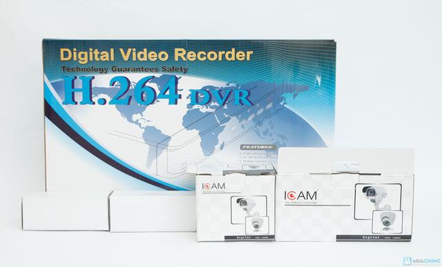Bộ Camera giám sát Icam và Đầu ghi hình KTS - 1