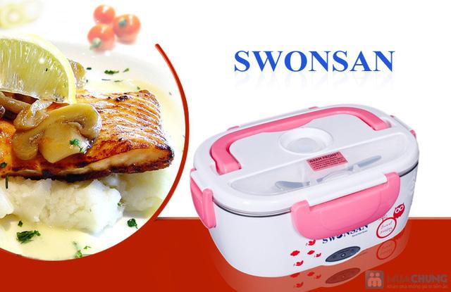Hộp cơm inox hâm nóng tự động Swonsan bảo hành 12 tháng - 1