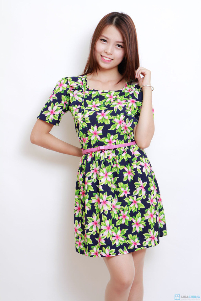 váy hoa họa tiết - 1