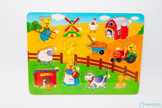 Đồ chơi xếp hình trí tuệ bằng gỗ cho bé - 6
