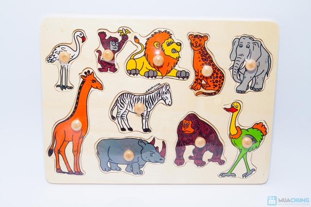 Đồ chơi xếp hình trí tuệ bằng gỗ cho bé - 5