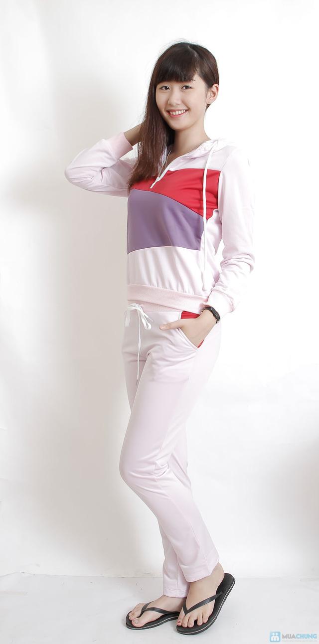 Bộ quần áo thu đông pha màu - 2