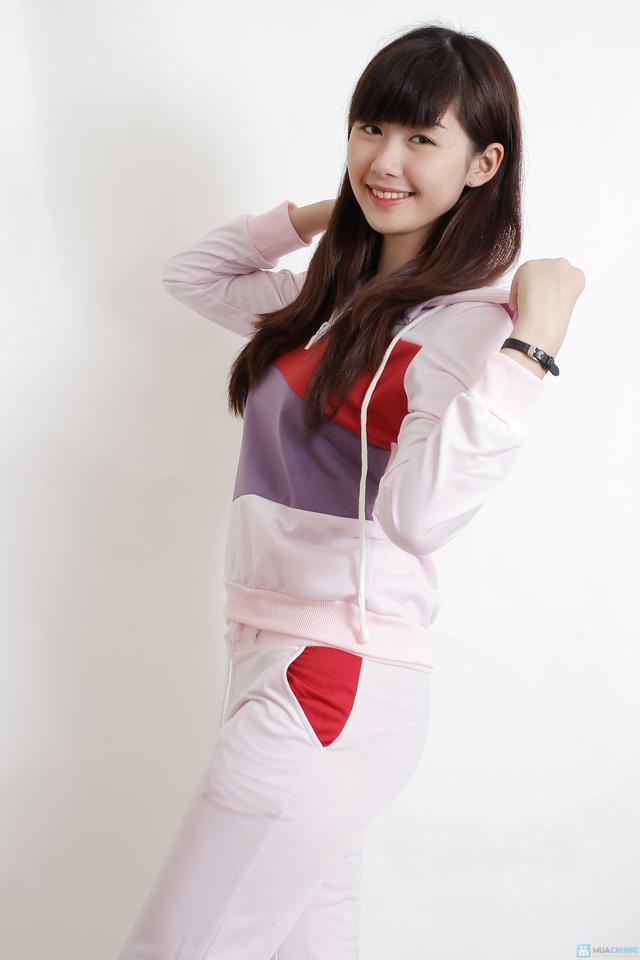 Bộ quần áo thu đông pha màu - 4