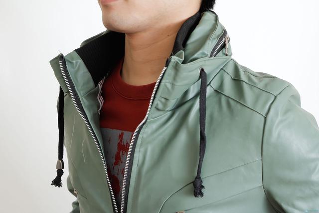 áo da 2 lớp cổ cao cho nam - 5