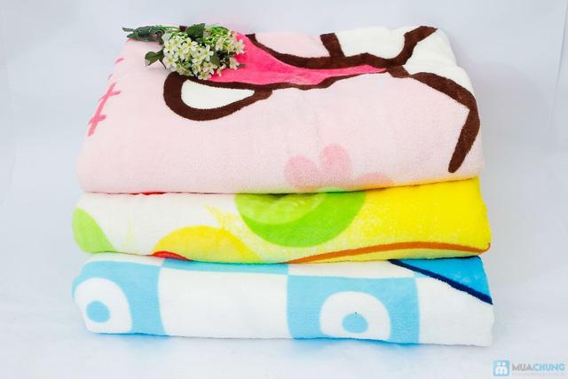 Chăn băng lông hoặt hình ngộ ngĩnh cho bé - 5