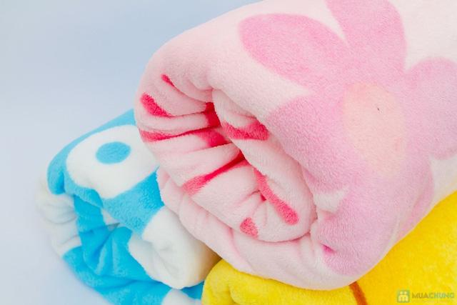 Chăn băng lông hoặt hình ngộ ngĩnh cho bé - 3