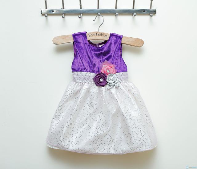 Váy nhung phối kim sa cực đáng yêu cho bé gái  - 9