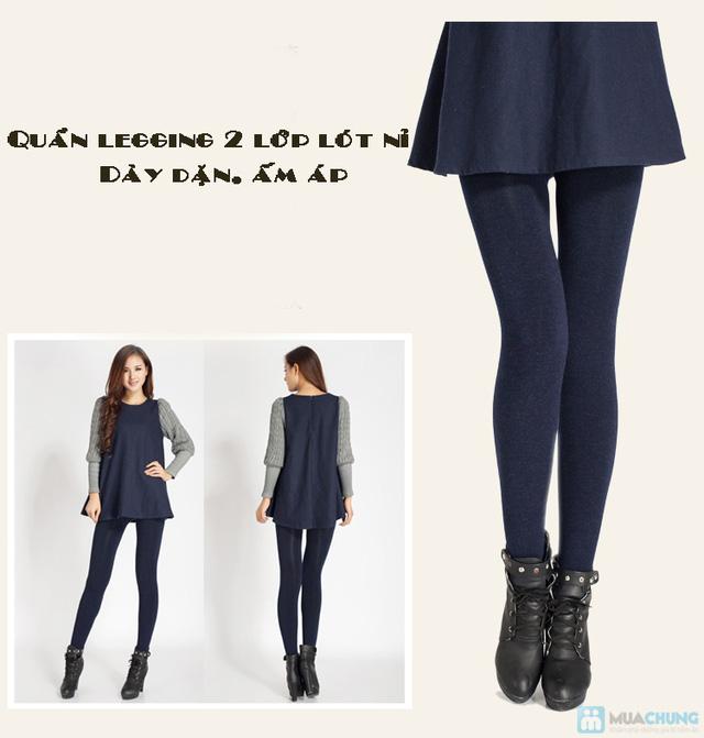 Com bo 2 Quần legging lót nỉ dẫm gót hoặc cổ chân - 12