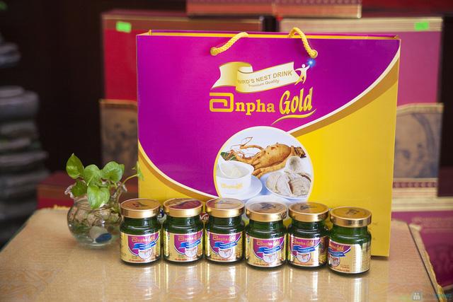 1 hộp yến sào Anpha nhân sâm Gold + 1 hộp Anpha Gold đường - 9
