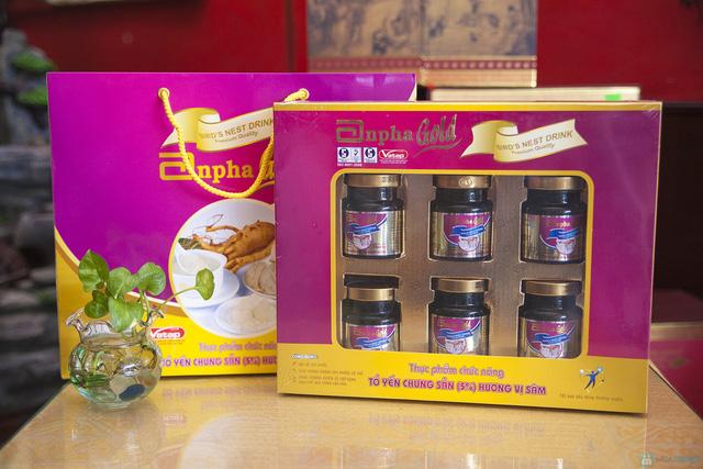 1 hộp yến sào Anpha nhân sâm Gold + 1 hộp Anpha Gold đường - 7
