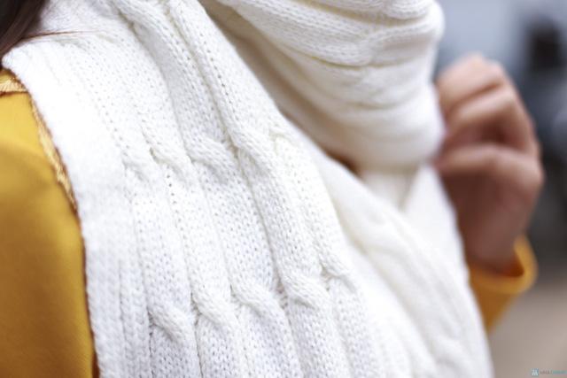 Khăn len ấm áp cho bạn nữ - 9