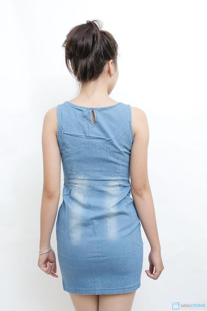Váy bò cổ ren cách điệu (218911 A) - 4