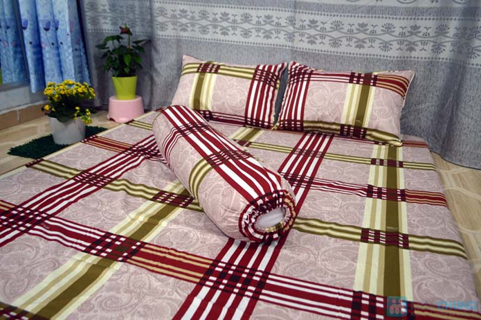 Bộ drap cotton Thắng Lợi (1 drap, 1 mền, 1 vỏ gối ôm, 2 vỏ gối nằm) - 7