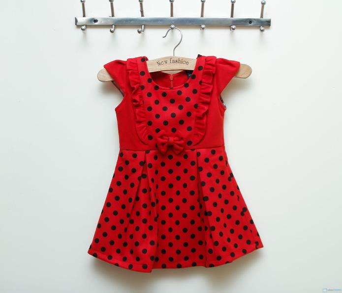 Váy dạ chấm bi Kitty kids xinh xắn  - 4