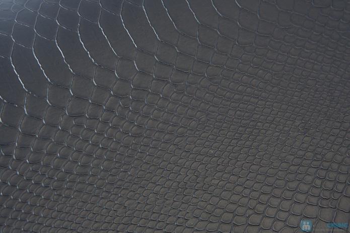 Túi xách da rắn khóa vàng - 6
