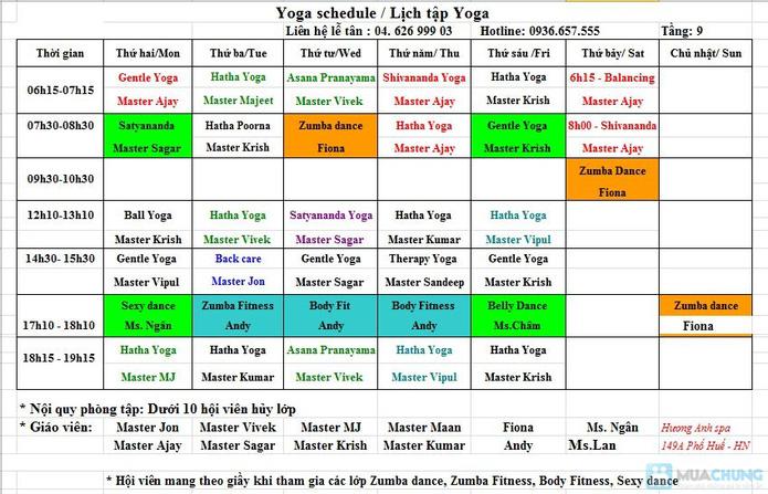 Tập Yoga với Master Avi và Master Amit - Giảng viên Ấn Độ tại Hương Anh Spa - 2