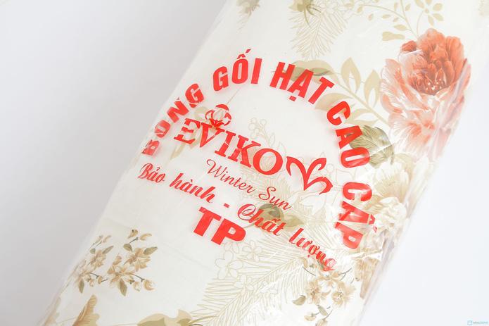 gối ôm bông hạt 35x100cm vỏ cotton mềm mại - 7