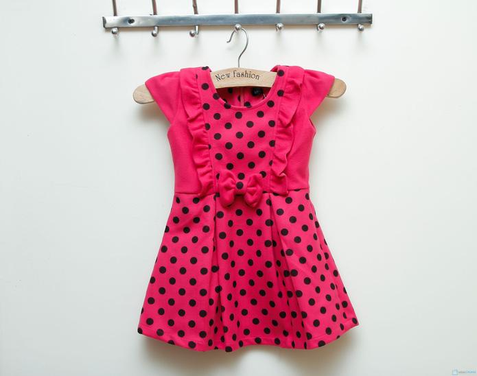Váy dạ chấm bi Kitty kids xinh xắn  - 5