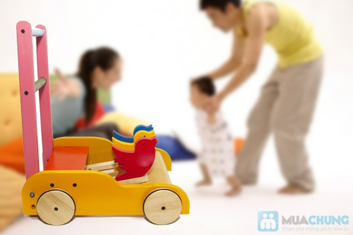 Xe gỗ tập đi cho trẻ em - 9