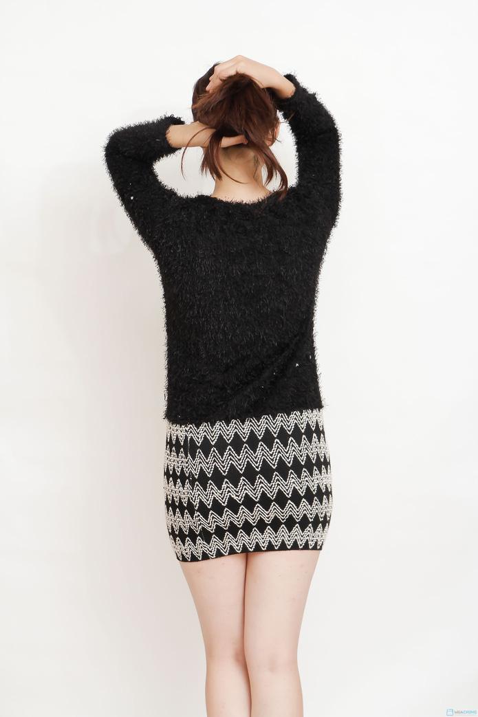 Váy len liền phong cách cho bạn gái - 7