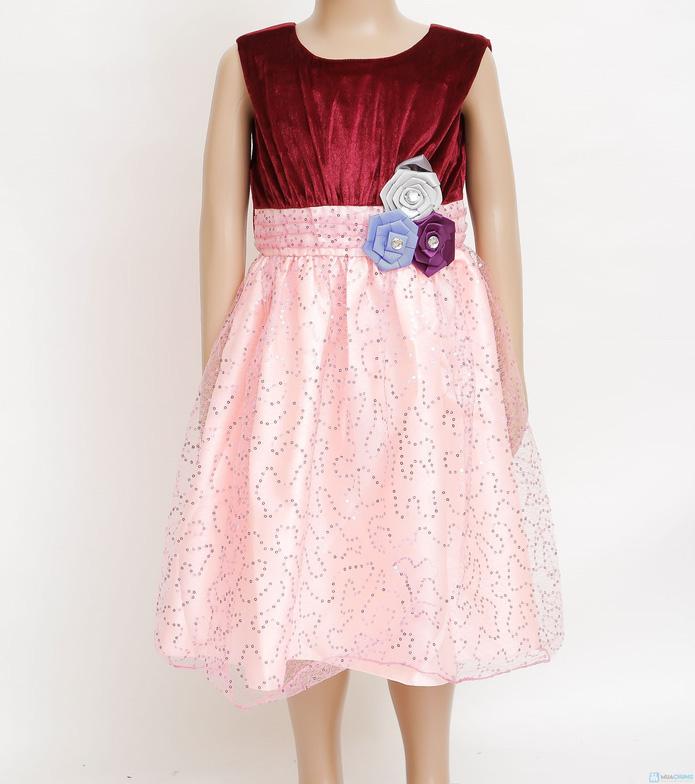 Váy nhung phối kim sa cực đáng yêu cho bé gái  - 10