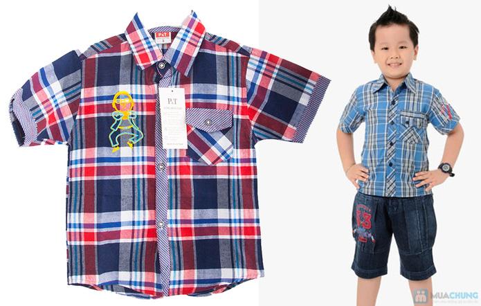 Quần jean và áo sơ mi cho bé trai - 9