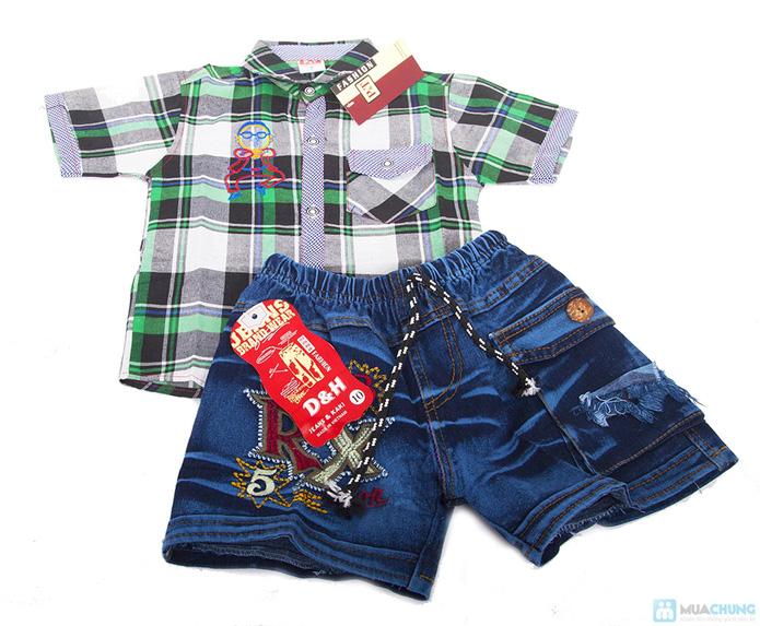 Quần jean và áo sơ mi cho bé trai - 4