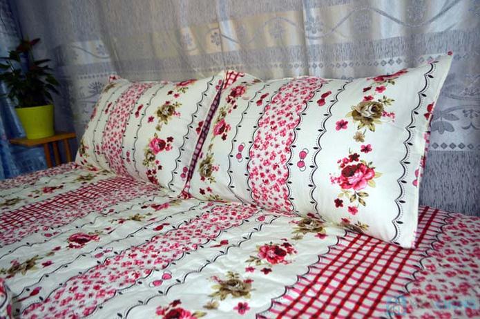 Bộ drap cotton Thắng Lợi (1 drap, 1 mền, 1 vỏ gối ôm, 2 vỏ gối nằm) - 8