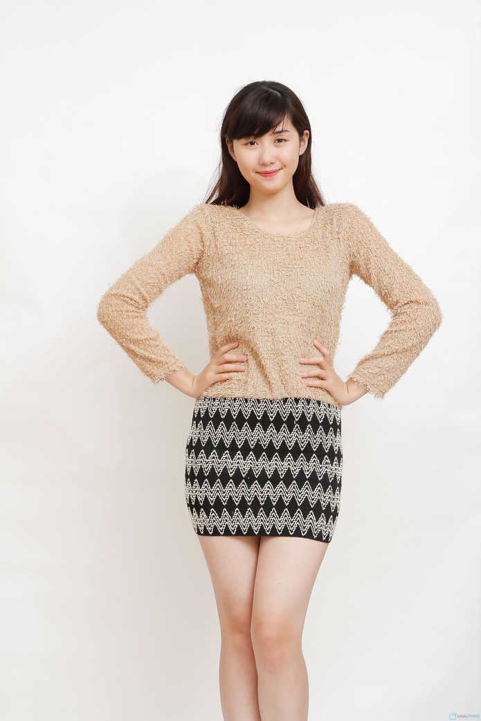 Váy len liền phong cách cho bạn gái - 1