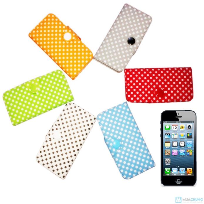 Bao da Iphone 5/5S chấm bi - 4