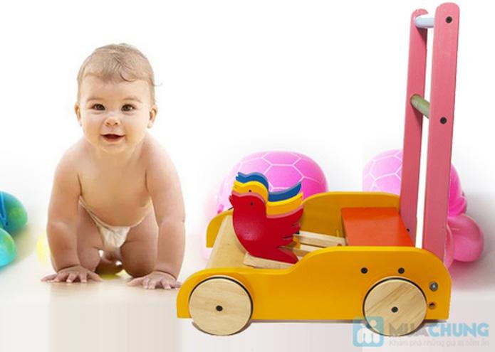 Xe gỗ tập đi cho trẻ em - 8