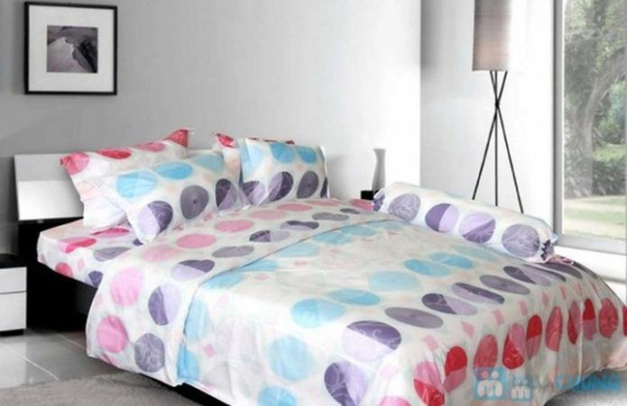 Bộ drap cotton Thắng Lợi (1 drap, 1 mền, 1 vỏ gối ôm, 2 vỏ gối nằm) - 4
