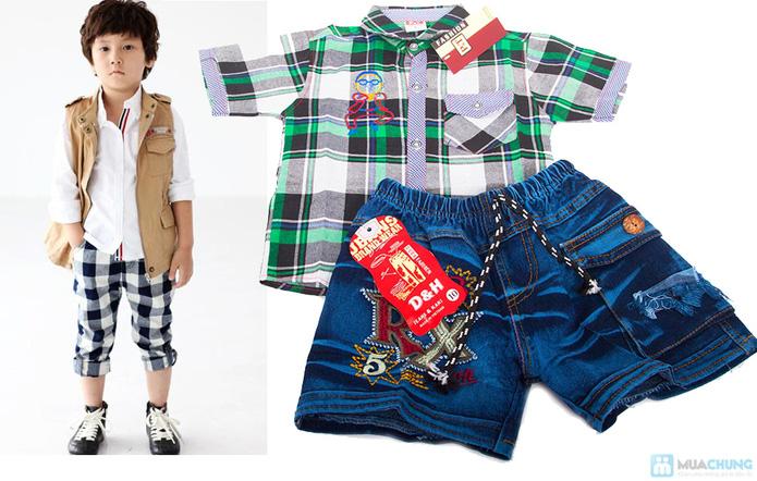 Quần jean và áo sơ mi cho bé trai - 8
