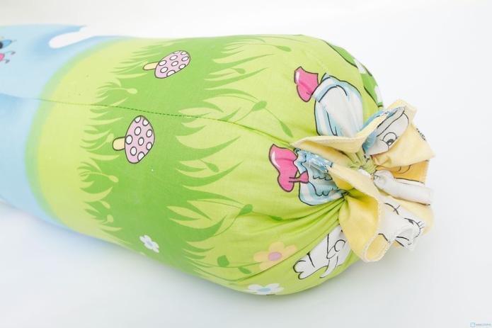 gối ôm bông hạt 35x100cm vỏ cotton mềm mại - 6