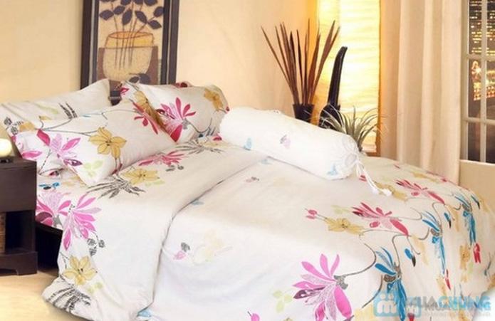 Bộ drap cotton Thắng Lợi (1 drap, 1 mền, 1 vỏ gối ôm, 2 vỏ gối nằm) - 5