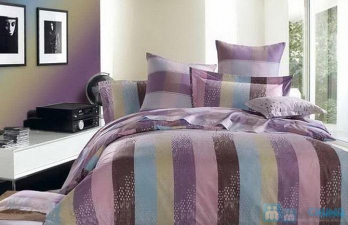Bộ drap cotton Thắng Lợi (1 drap, 1 mền, 1 vỏ gối ôm, 2 vỏ gối nằm) - 3