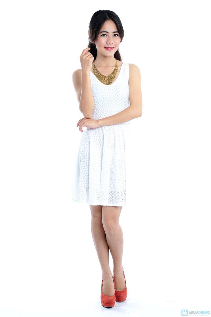 Đầm ren trắng tinh khôi - 1