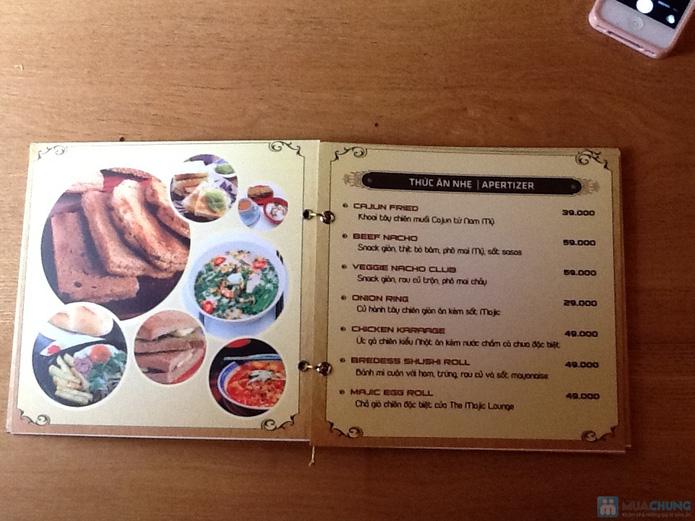 (Hạn dùng: 25/01/2014)Cơm trưa + Buffet rau + trái cây tráng miệng + nước uống cho 02 người tại Nhà hàng Majic Lounge - 3