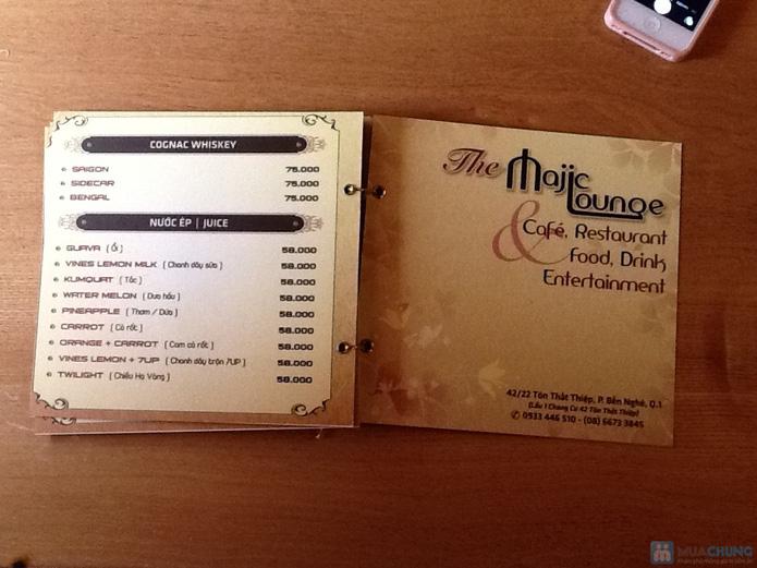 (Hạn dùng: 25/01/2014)Cơm trưa + Buffet rau + trái cây tráng miệng + nước uống cho 02 người tại Nhà hàng Majic Lounge - 1