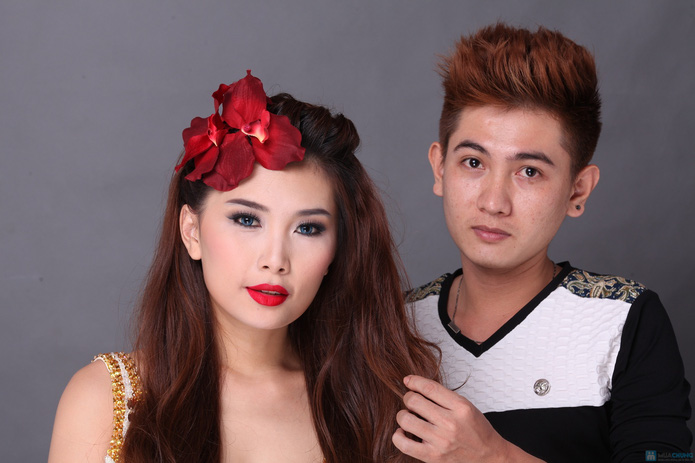 Trọn gói Uốn - duỗi - nhuộm tại Ngọc Anh Beauty Center - 6