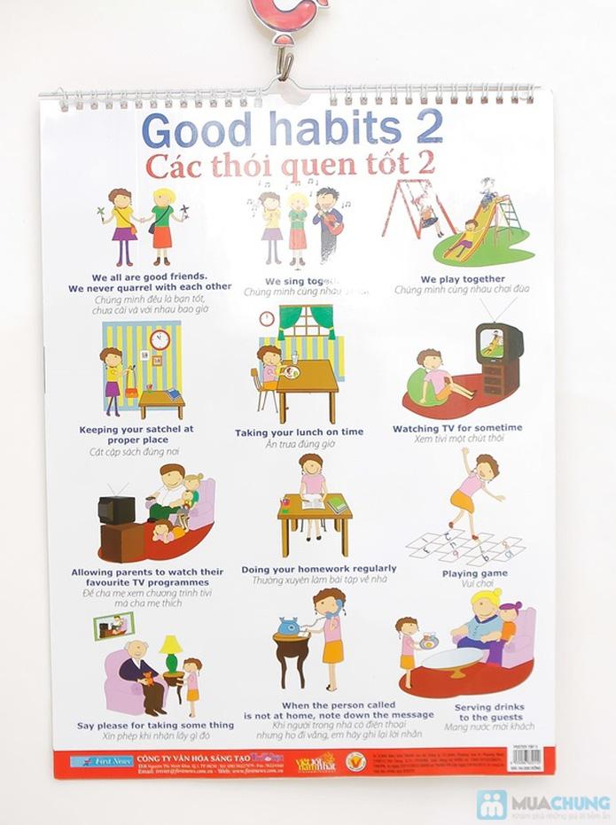 3 bộ Poster treo tường 8 tờ dành cho bé học. Chỉ với 121.000đ - 8