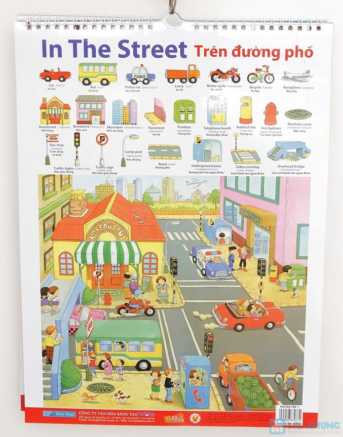 3 bộ Poster treo tường 8 tờ dành cho bé học. Chỉ với 121.000đ - 11