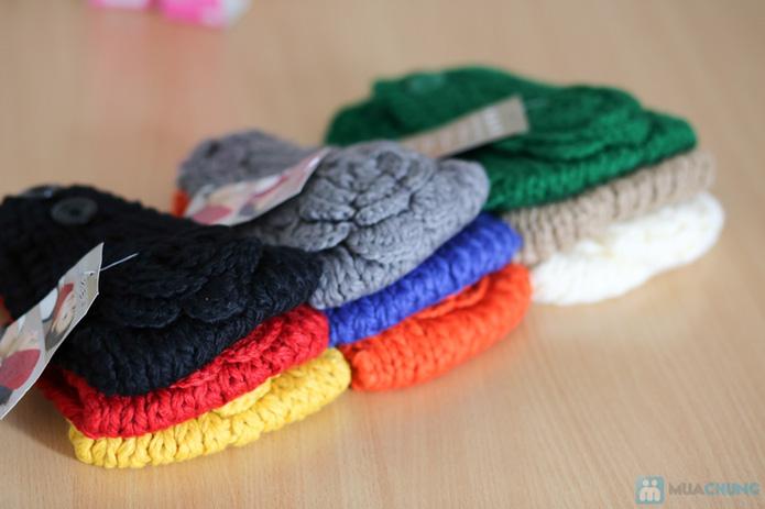 Khăn len dùng làm ấm cổ hoặc băng đô  - 1